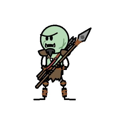 Monster- Orc Spearman (04)