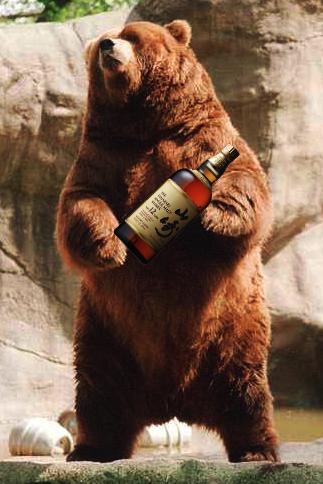 Whiskey Drinking Bear