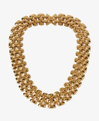 Garish gold necklace