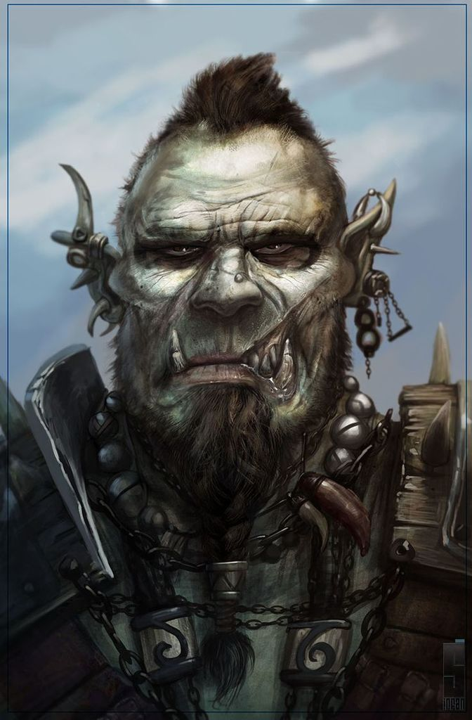 Terran Redface, Chief of the Red Feather Orcs