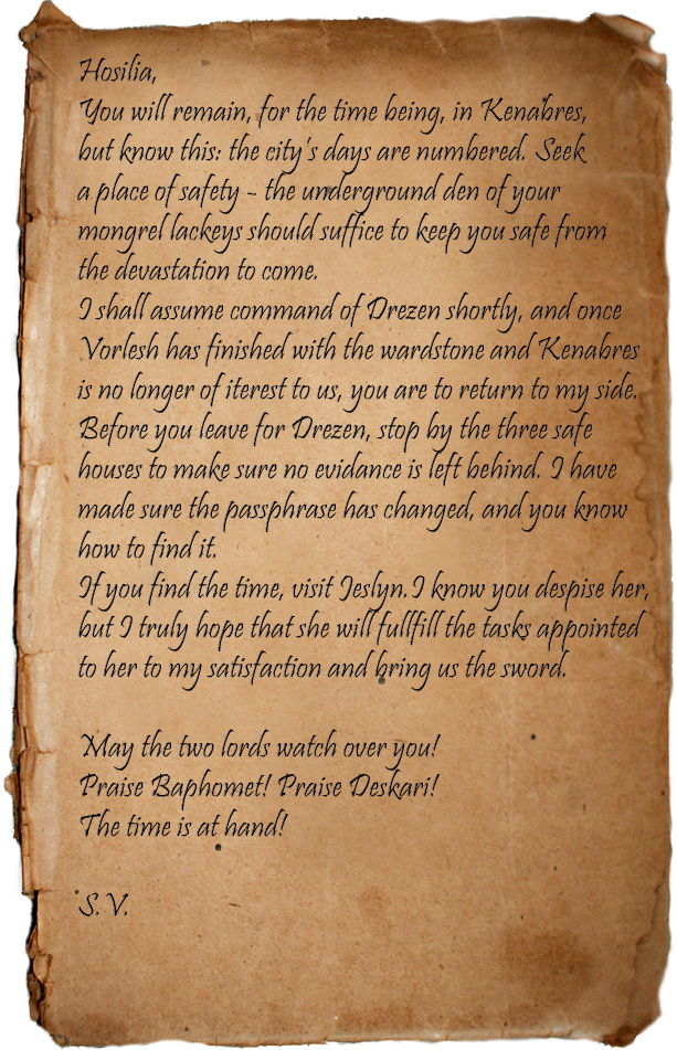 Letter to Hosilla