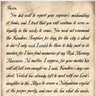 Letter to Faxon