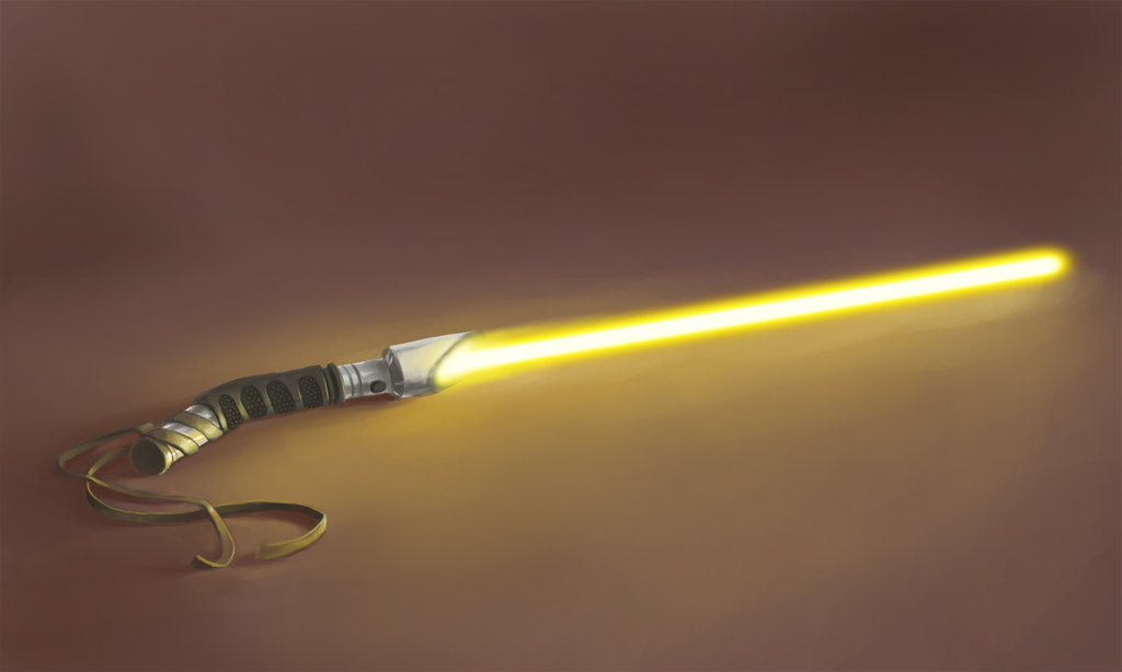 Aopey's Yellow Lightsaber