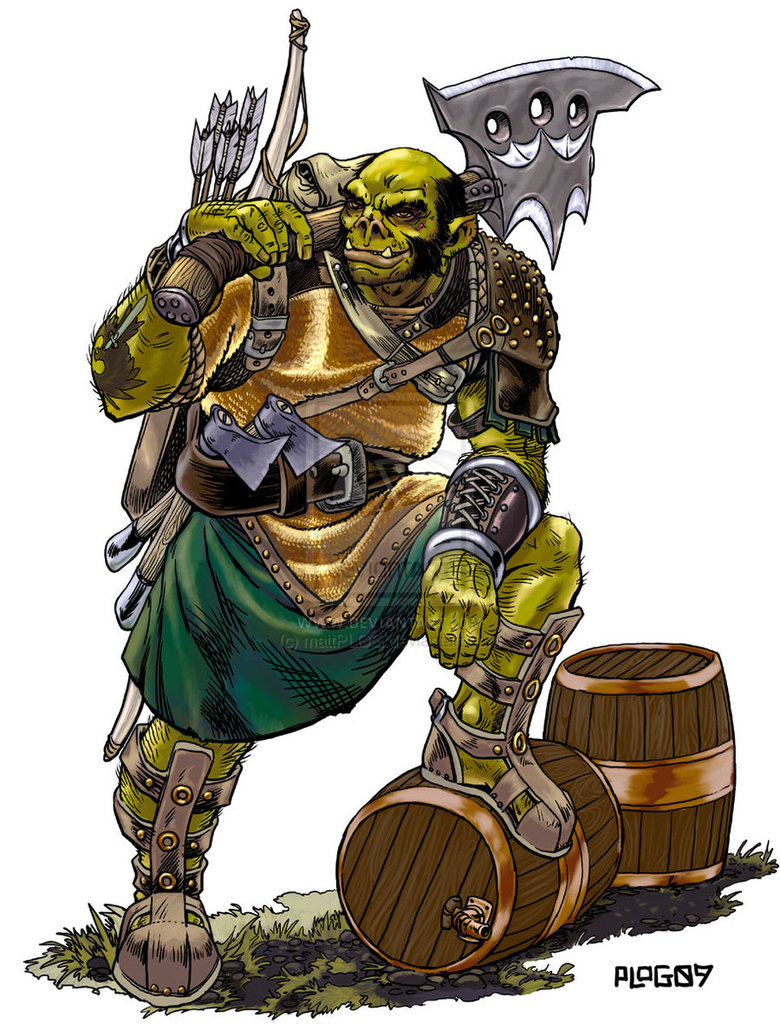 """Glint """"the Axe"""" Red (Half-Orc Slayer)"""