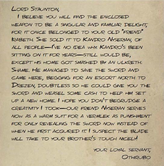 Letter from Othirubo