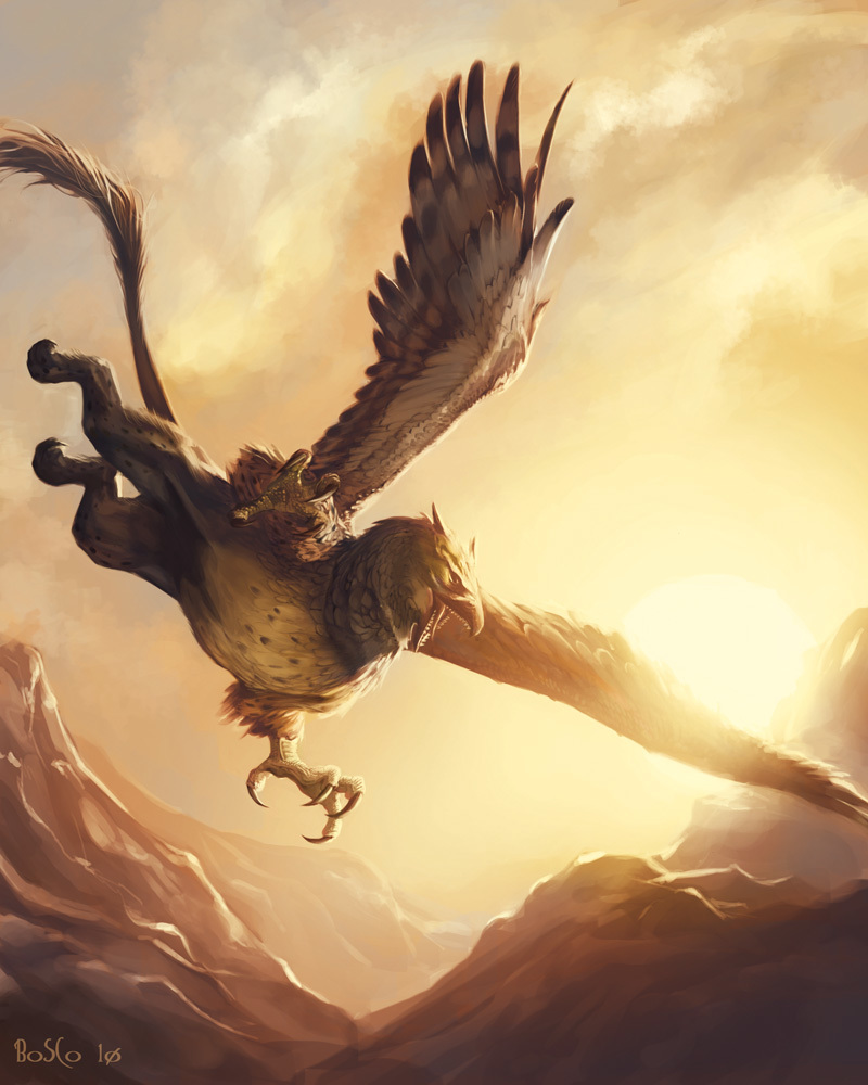 Long Claw, the Golden Griffon of Pelor