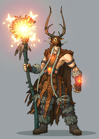 Llanolos Elkhorn Elf Druid