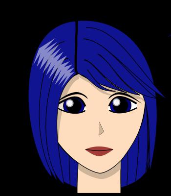 La nana aux cheveux bleus