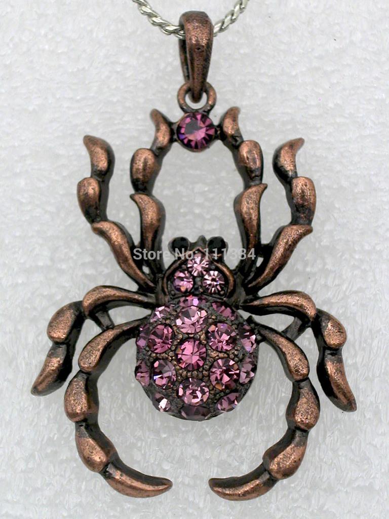 Copper Spider Pendant
