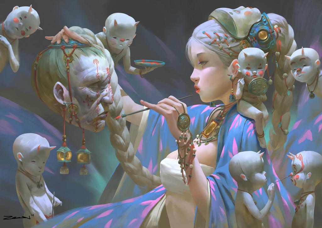 Ya-Ment, Máscara de Marfim