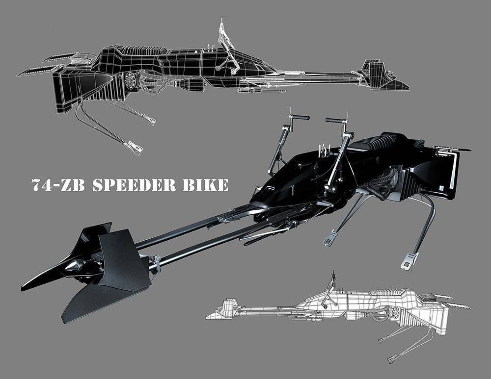 """Imperial 74-ZB """"Stealth"""" Speeder Bike"""