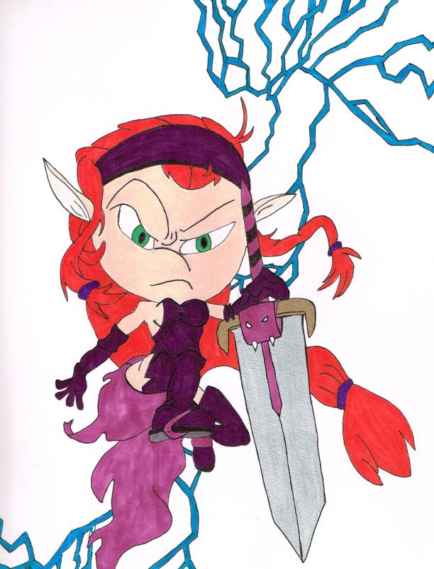 Saria, Head of the Veritasian Guard