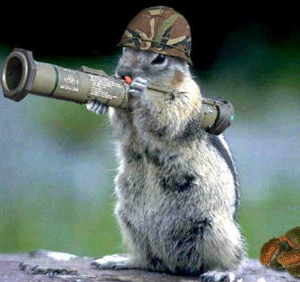 Eorlund Gray-Mane, Dire Squirrel