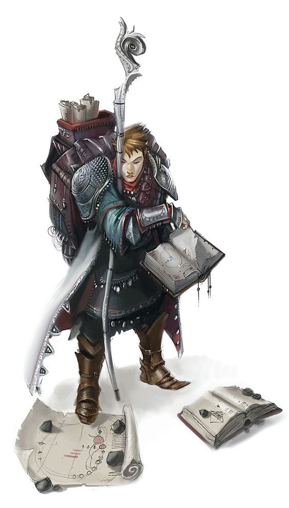 Kuroniel, male elf wizard