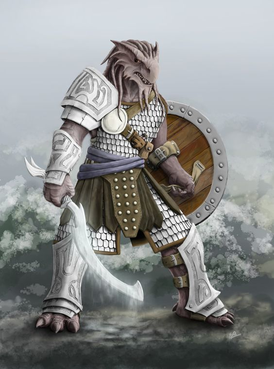 Kragor, male dragonborn fighter