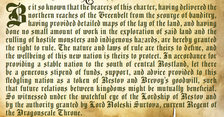 Settlement Charter