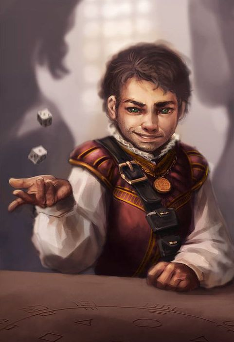 Flint Pasoligero, male halfling rogue
