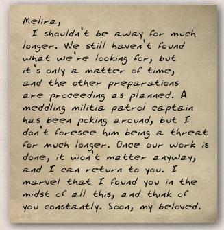 Skreed's letter to Merlina