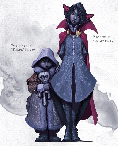 Rosevalda and Thornboldt Durst