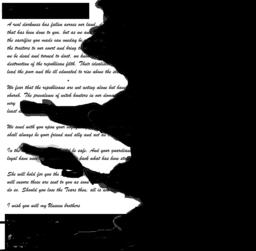 Burnt Letter