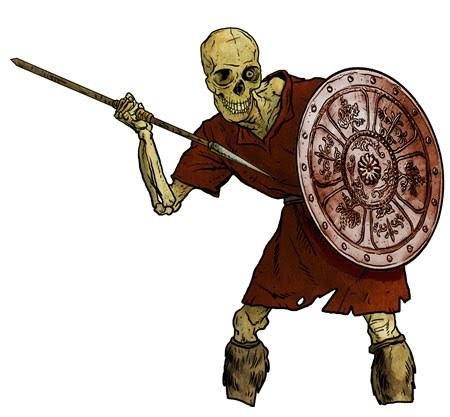 Squelette mort-vivant