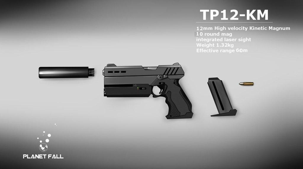 Bardoc TP12 Kinetic Magnum Pistol