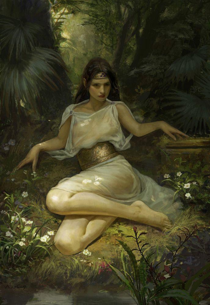 Sylessi, the Lady of Silvershadow Lake