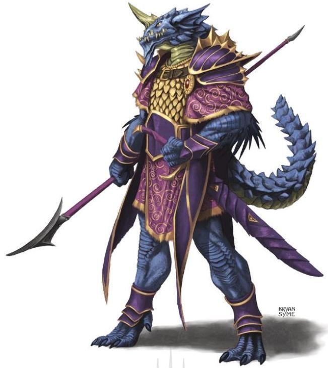 Blue Half-Dragon Champion