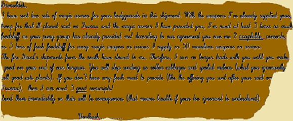 Uratash's note
