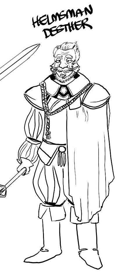 Helmsman Ignatious Desther