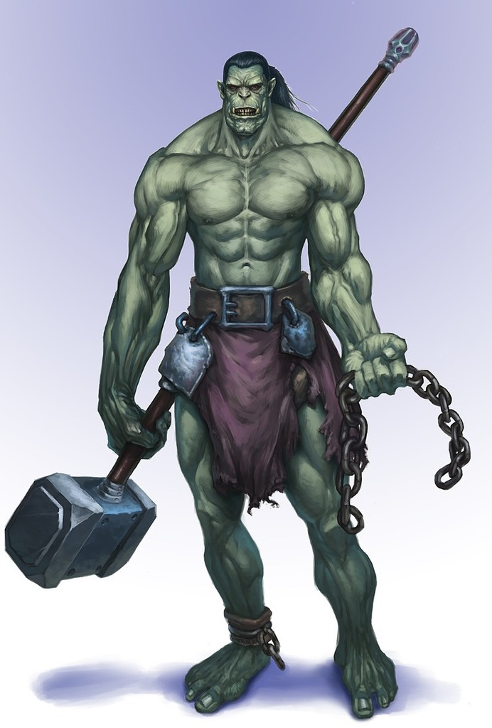 The Half-Orc Barbarian of Kord