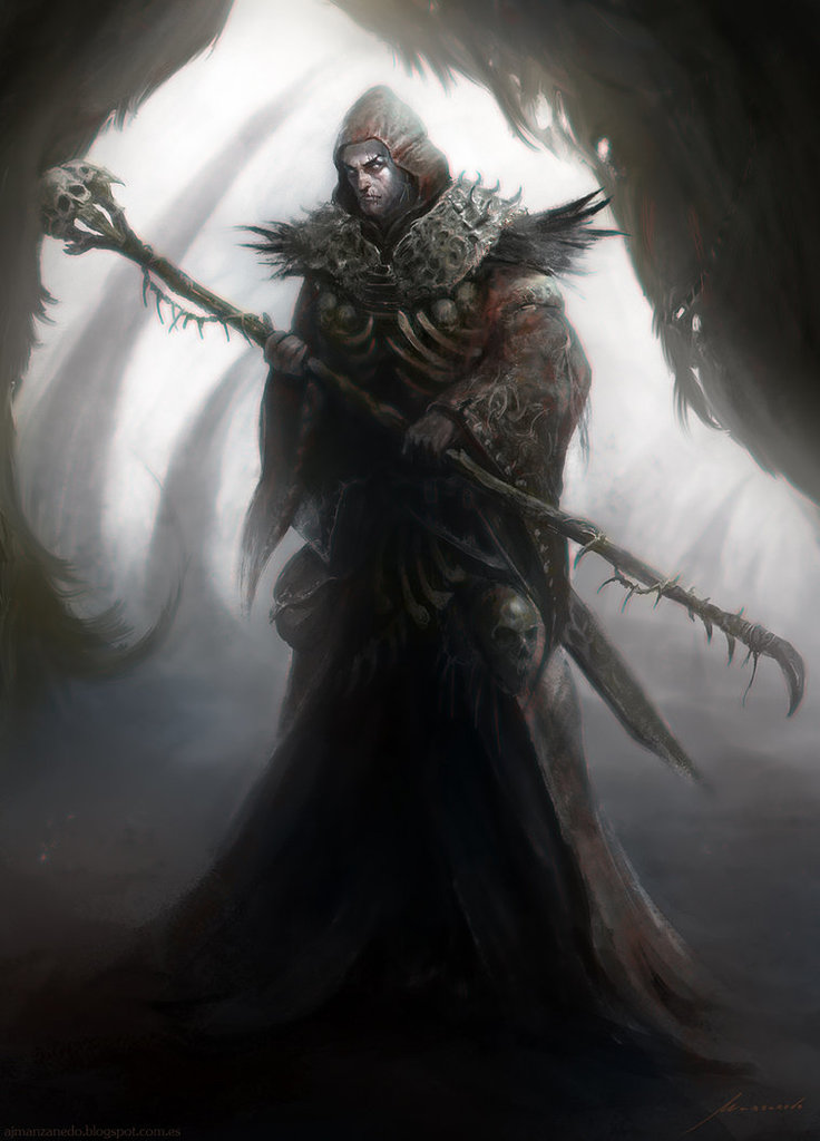 Count Ba'aziel, the Crow-Warlock
