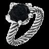 Onyx Rose Ring