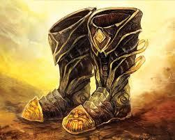 Magic Item Boots Of Striding And Springing The Blade Of The Raven Queen Obsidian Portal While you wear these boots, your walking speed becomes 30 feet, unless your walking speed is higher, and your speed isn't reduced if you are encumbered or wearing heavy armor. magic item boots of striding and