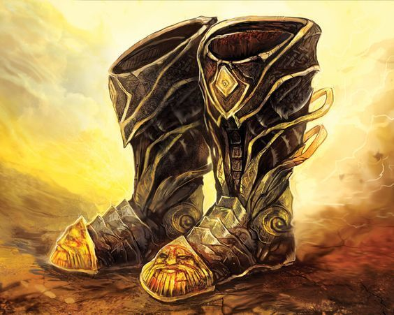Boots Of Striding And Springing Black Swords Obsidian Portal In addition, you can jump three times the normal distance, though you can't jump farther than your remaining movement would. boots of striding and springing black