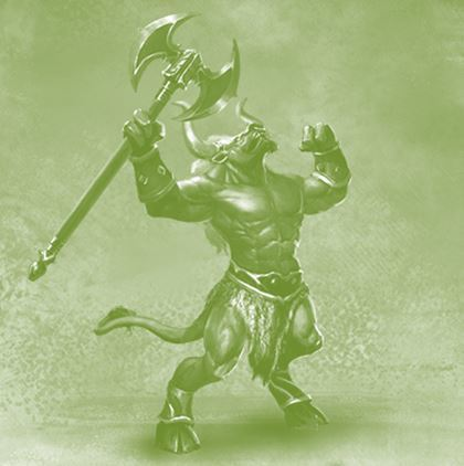 Turakbar, the minotaur warlord (Ardev-Greywall)