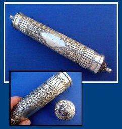 Silver Scroll Tube