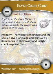 Elven Cloak Clasp