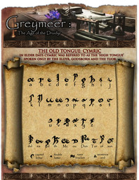 The Old Tongue: Cymric