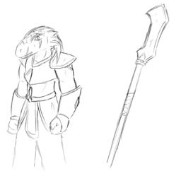 Melech, dragonborn Barinten traitor
