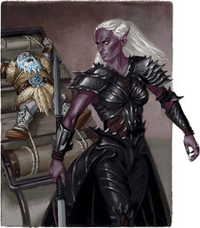 Mysterious Drow Cleric