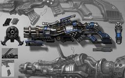 Dwarven Heavy Caster Gun
