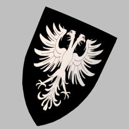 Hawk Embossed Shield