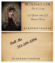 Medusa's Coil Business Card
