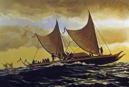 Double-hulled Canoe