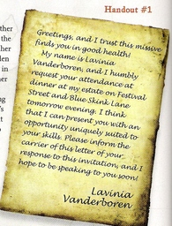 Lavinia's Invitation