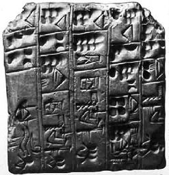 The Clay tablets