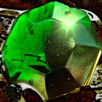 Gruener Leuchtkristall