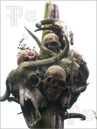 Sven's totem pole of skulls