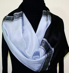 Item, focus (Erin) - Painted Scarf